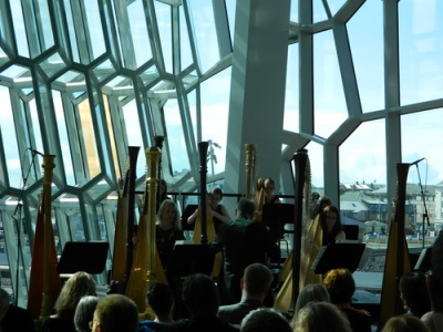 Inside Harpa, Culture Night 2011. Image - Billy Haworth