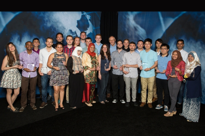 The 2015 Esri Young Scholars from around the world.